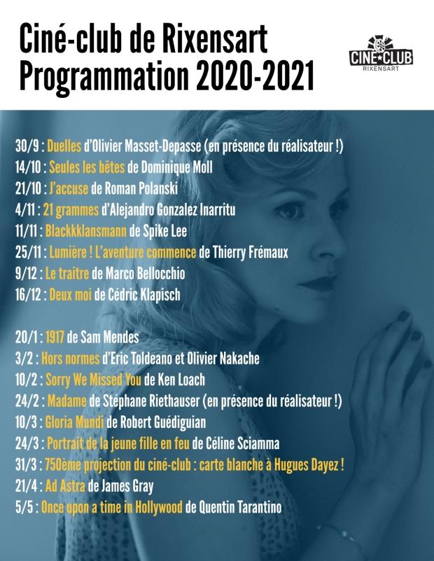 cinéclub - programmation 2020-2021